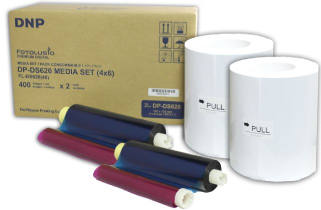 DNP Paper DM46620 2 Rolls ? 400 prints. 10x15 for DS620