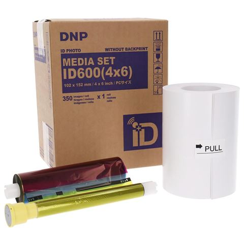 DNP ID Photo Media 1 Roll 350 Prints 10x15 for ID600