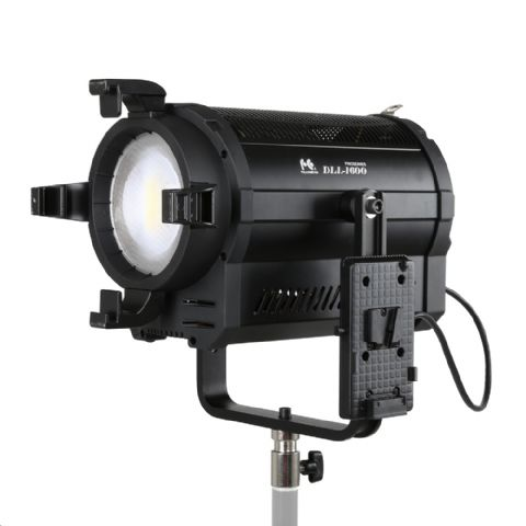 Falcon Eyes 5600K LED Spot Lamp Dimmable DLL-1600R on 230V or battery