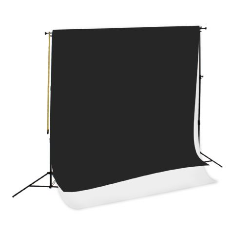 Falcon Eyes Background System SPK-2 with 2 Rolls Black/White 1.35x11 m