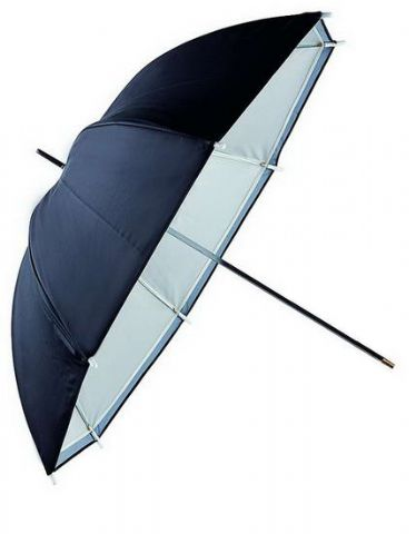 Falcon Eyes Umbrella URN-48TSB1 Transparent White + Silver/Black Cover 122 cm