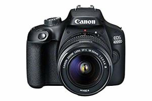 New Canon EOS 4000D DSLR Camera and EF-S 18-55 mm f/3.5-5.6 III Lens - Black