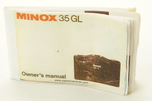 Minox GL Instruction Book / Owners Manual