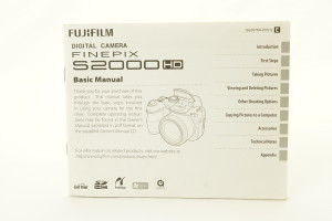 Fujifilm Finepix S2000HD Instruction Book/Manual