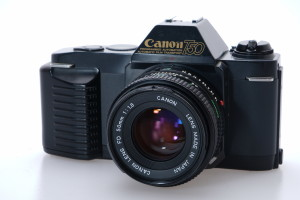 Canon T50 c/w 50mm f1.8 35mm SLR