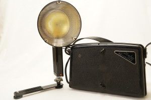 Metz Mecablitz 300 Portable Proffesional Flashgun c1950's (Hire Only)