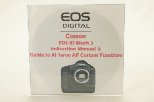 Canon EOS 1D Mk 3 Instruction Book & Guide to AI Servo AF Custom Functions