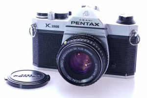 Pentax K1000 c/w 50mm F2 lens, case and strap