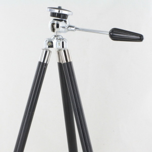 Vintage Metal Tripod c/w Pan & Tilt Head in Leather Case