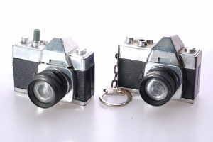 2 x Small Vintage Souvenir Slide Viewers (Shape of a SLR Camera)