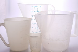 4 x Darkroom Measuring Jugs