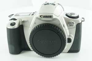 Canon EOS 300 Camera Body c/w wide camera strap, Boxed