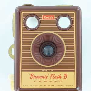 Kodak Brownie Flash B Box Camera in Beige