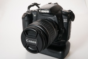 Canon EOS 20D c/w EF-S 18-55mm II & BG-E2 Battery Grip