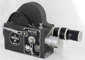 Pathe Super Webo M 16mm camera / 3 Lenses c1952 (Hire Only)