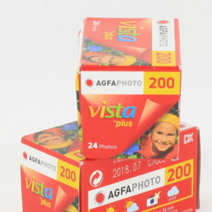 2 x Agfa Photo 200 135/24 exp 35mm films date 07/18