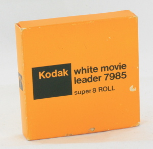 Kodak White Movie Leader 7985 50ft Super 8