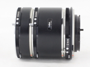 3 x Unitor Extension Tubes Minolta MD Fit 12, 20 & 36mm