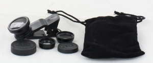 3-in-1 Lenses for Mobile Phones Fisheye, Wide & Macro