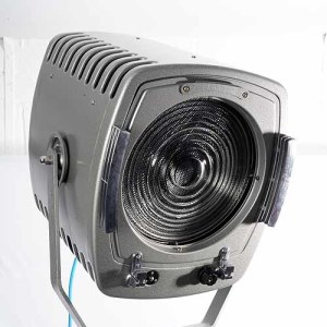 2 x Strand Patt 243 2000w Fresnel Pro Movie Lights on Chrome C Stands 1960's (Hire Only)