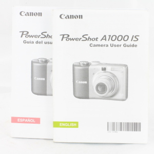 Canon Powershot A1000 IS Instruction Book