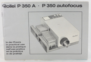 Rollei P 350A P350 AF Slide Projector Instruction Book