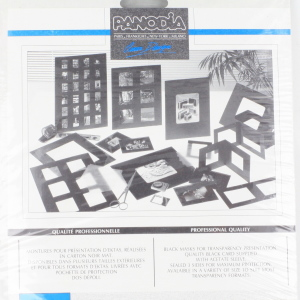 4 Packs of 10 Panodia 5x4 inch (10x12.5cm) Black Mask transparency sleeves