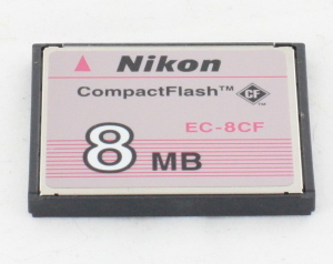 Nikon 8mb compact flash card by SanDisk