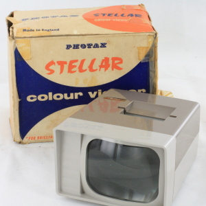 Photax Stellar 35mm slide Viewer (Early Model) Boxed