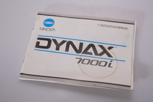 Minolta Dynax 7000i Instruction Book/Manual