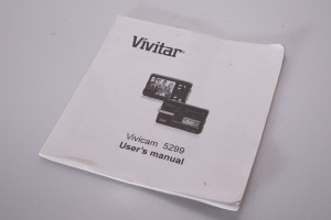 Vivitar Vivicam 5299 Instruction Book/manual