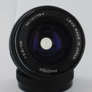 Photax 28mm f2.8 Wide Angle lens  Pentax M42 Screw Fit