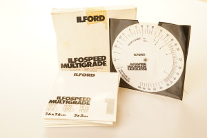Ilford Ilfospeed Multigrade Filters & Calculator