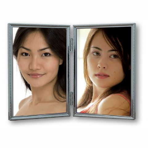 Zep Double Photo Frame 120DS04-4R Silver 2x 10x15 cm
