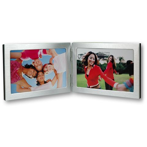 Zep Double Photo Frame 8702H2 Silver 2x 18x13 cm