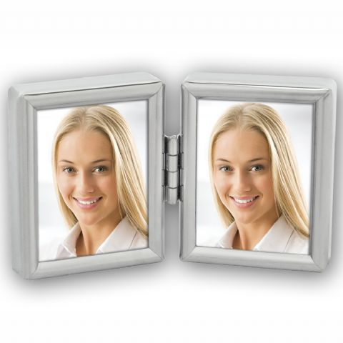 Zep Double Photo Frame 8735DL Silver 2x 3,5x4,5 cm